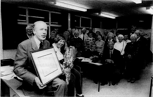 Presentations to Hugh and Jill Beavin on the 25th Anniversary of the Group in 2000.