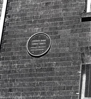 The Joseph Dare Blue Plaque