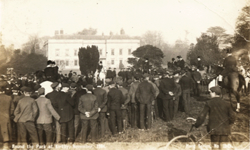atherstone hunt meet at kirkby hall during november 1904
