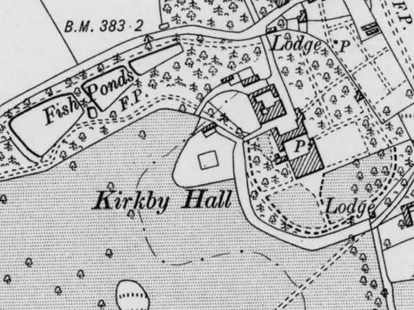 1886 map of kirkby hall