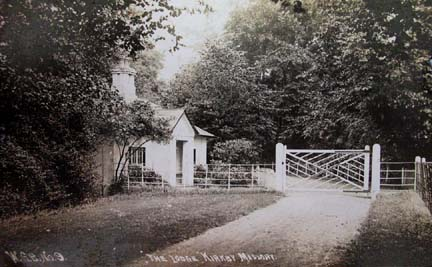 the north lodge from inside the grounds of kirkby hall c.1900