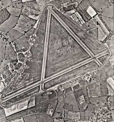 aerial view of raf lindley aerodrome on former lindley hall site in 1945