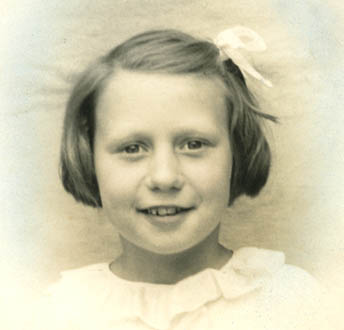 Joyce Hardy aged 7 years old
