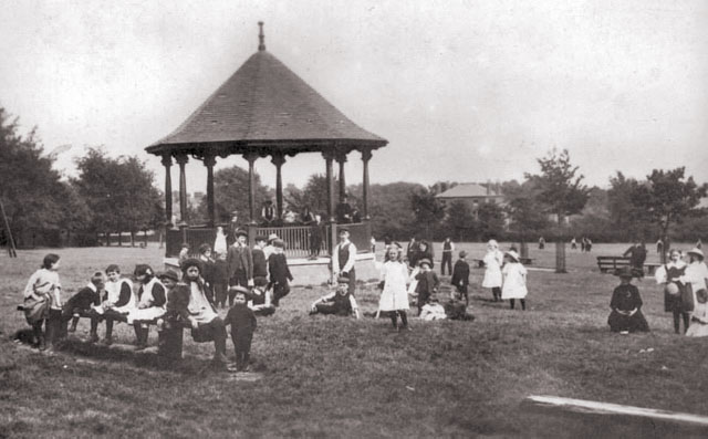 Queens Park and bandstand