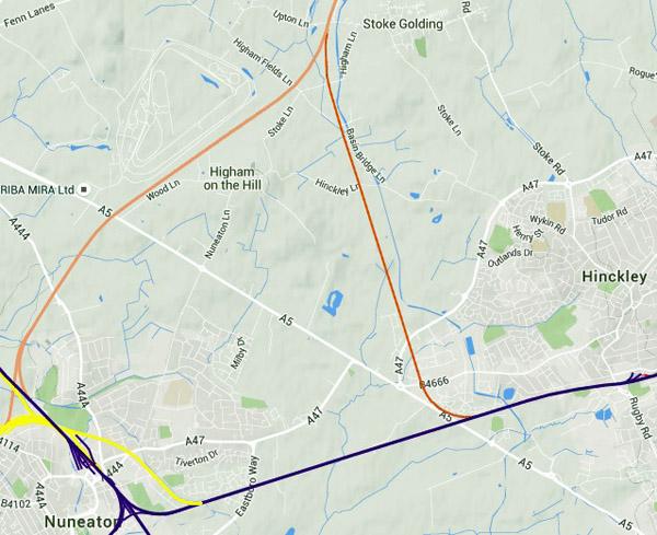 Hinckley Branch Line Ashby Nuneaton Joint Railway