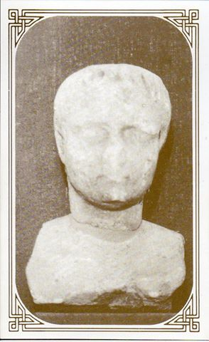 Postcard of the Hinckley Roman Bust