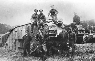 mark iv female tank and crew