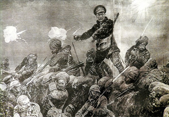 Battle of Neuve Chapelle on the Western Front during March 1915