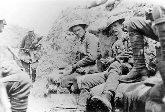 2nd Battalion of the Leicestershire Regiment in a trench