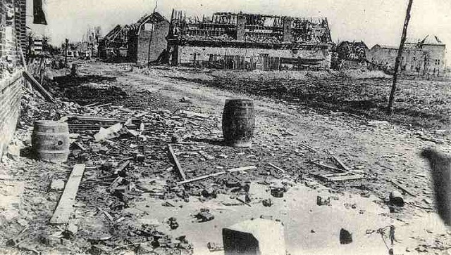 A street in Neuve Chapelle after the battle in March 1915