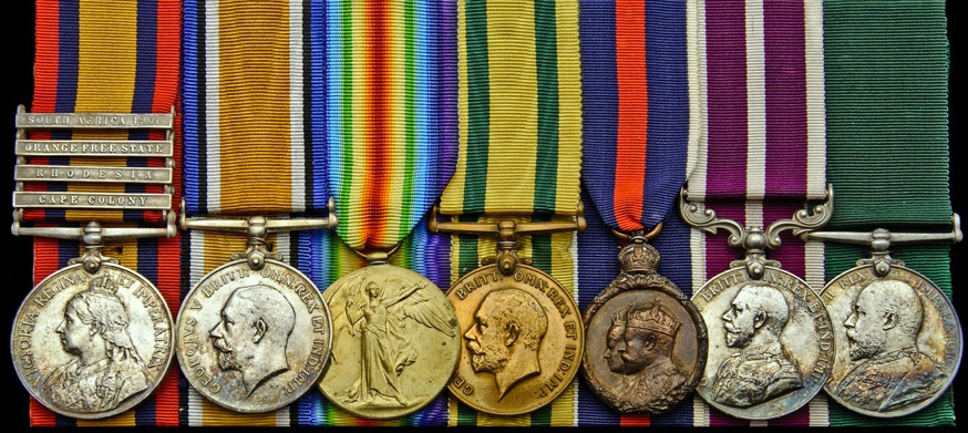 The medals of Company Sergeant Major Sharrad Holland Gilbert