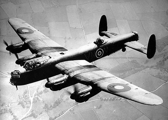 lancaster on the way to bomb a target