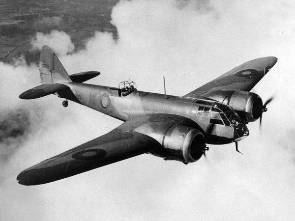 a bristol blenheim mk i in flight