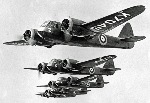bristol blenheims of 114 squadron during 1937