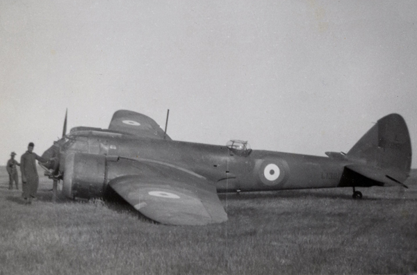 bristol blenheim mk i crashed